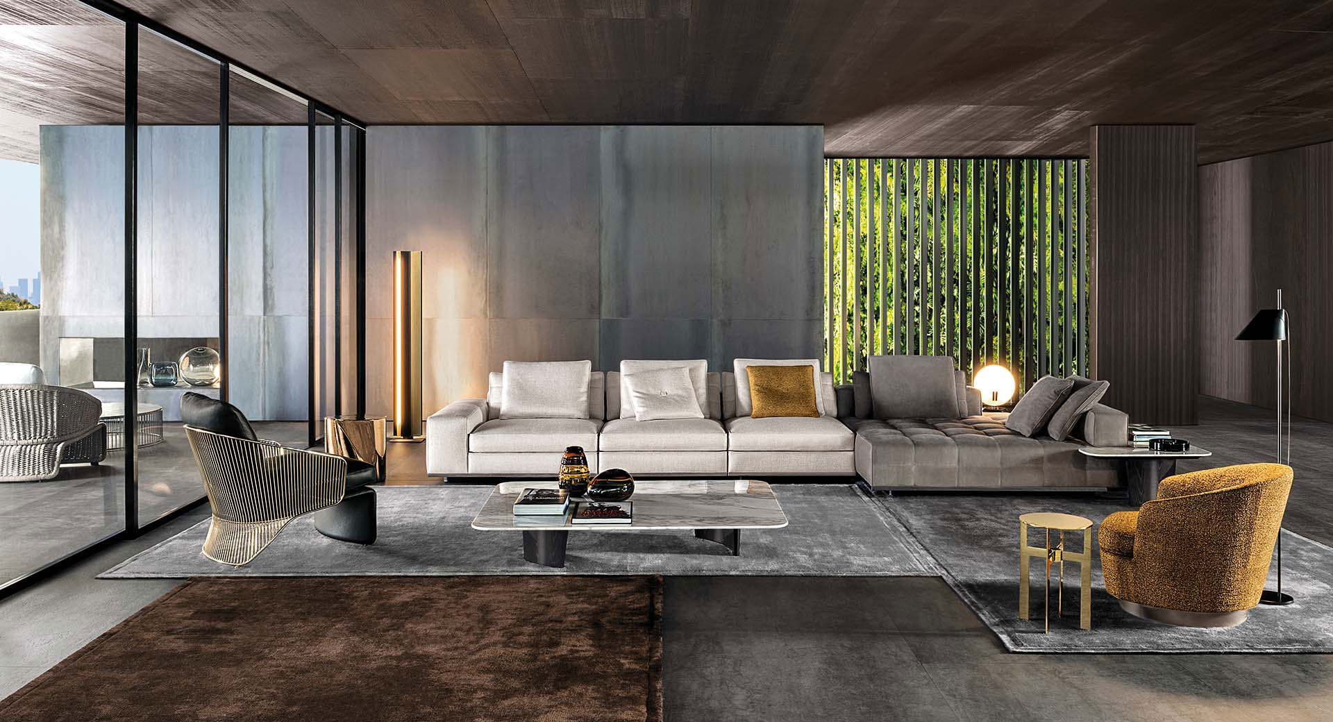 Minotti Los-Angeles Lawrence Doppia Sofa