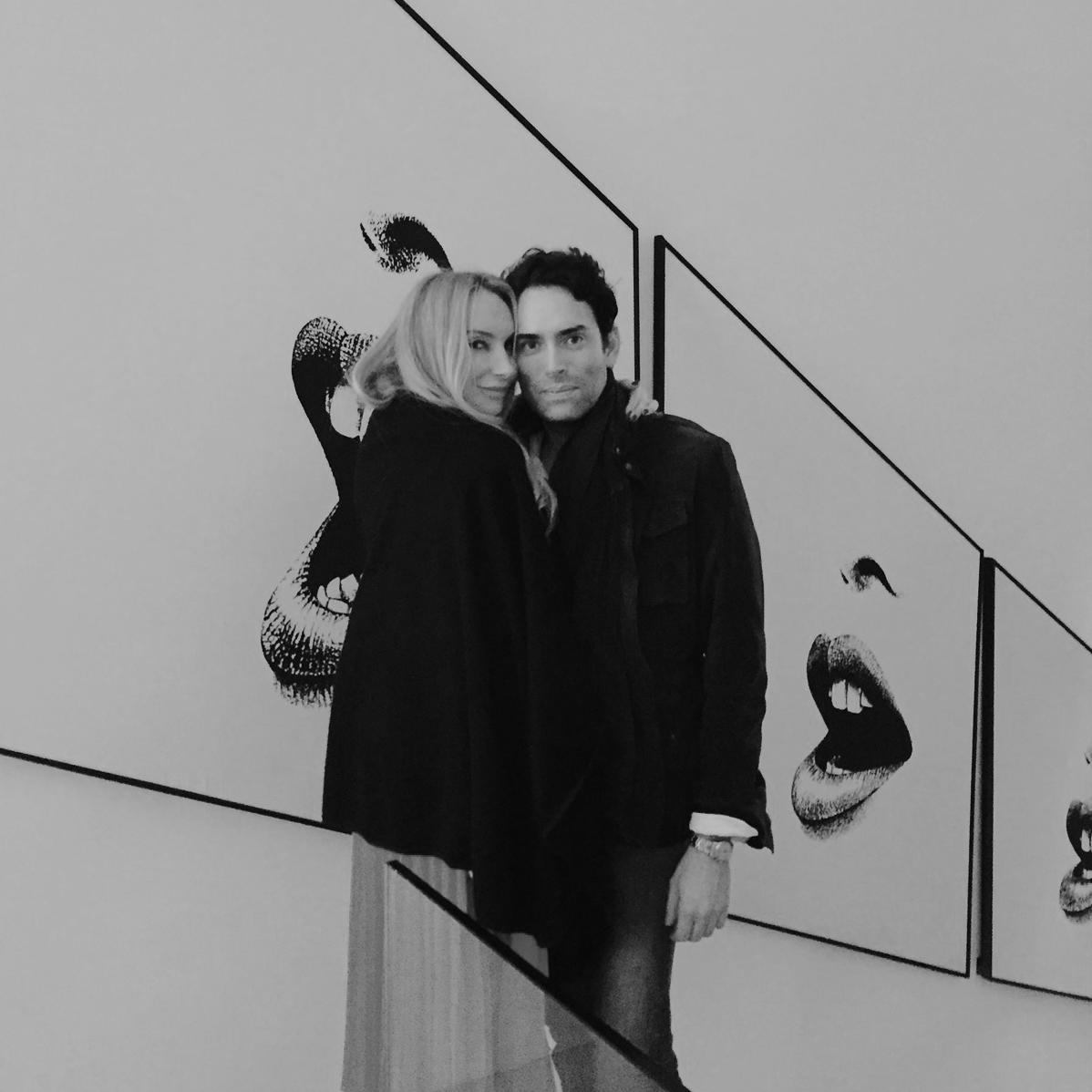 Nicole Fuller and her husband, artist Alexander Yulish