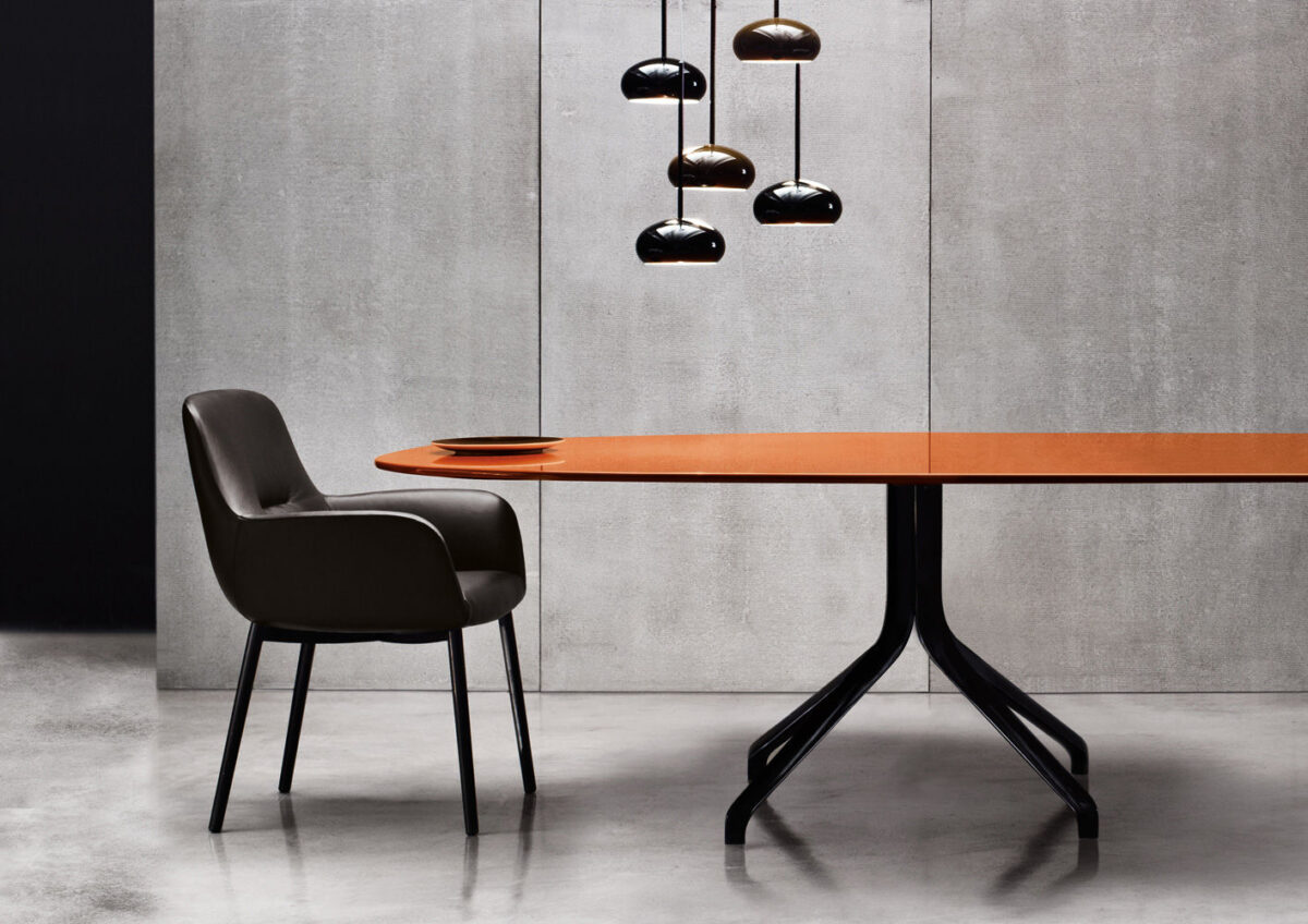 Minotti Claydon Table and Flavin Chair